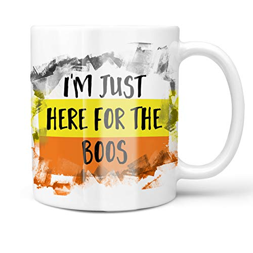 Neonblond 11oz Coffee Mug I'm Just Here For the Boos Halloween Candy Corn with your Custom Name]()