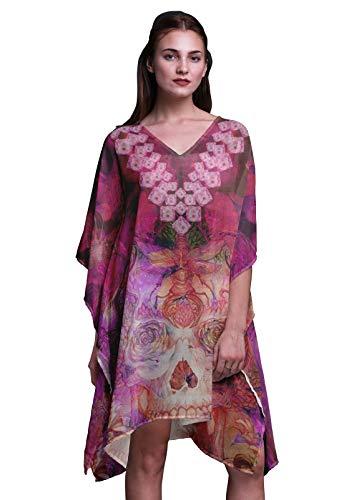 Kaftan Grande Floral Pour Femmes Wear Violet Plus Caftan ...