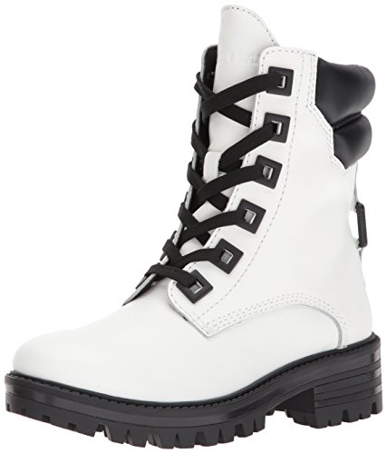 Kendall + Kylie Womens East Combat Boot Bianco