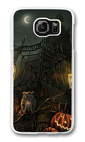 S6 Case, Galaxy S6 Case, Scratch Resistant Hard Bumper Case for Samsung Galaxy S6 Halloween Scary Horror Gate Transparent Hard Case for Samsung Galaxy S6 -