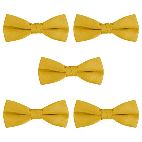 S.H. Churchill & Co. 5-Pack Bow Tie Set - Gold