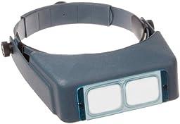 Donegan DA-7 OptiVISOR Headband Magnifier, 2.75X Magnification Glass Lens Plate, 6\