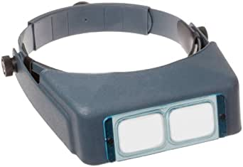 "Donegan DA-2 OptiVISOR Headband Magnifier, 1.5X Magnification Glass Lens Plate, 20"" Focal Length"