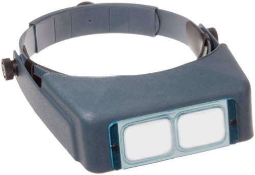 - Donegan DA-4 OptiVISOR Headband Magnifier, 2X Magnification Glass Lens Plate, 10