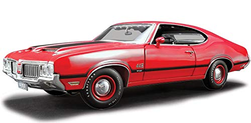 1970 Oldsmobile 442 W-30 Matador Red with Black Stripes Limited Edition to 396 Pieces Worldwide 1/18 Diecast Model Car by Acme A1805608 ()