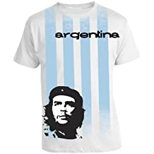 Che Guevara Store Men's Argentina Che Football Striped T-shirt White