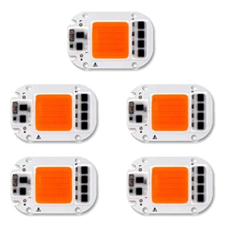 ILS - 5 pieces 50W 220V Full Spectrum LED COB Chip Grow Light for Plant: Amazon.es: Hogar