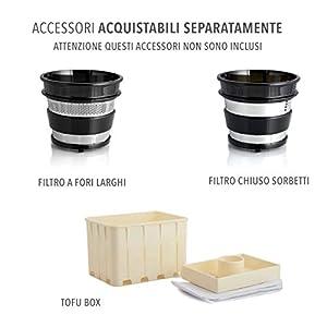Classe Italy 70430053 Estrattore di Succo Vivo Bassa Velocita 43 Giri/Min, 0.5 litri, 150 Watt, Verde - 2020 -