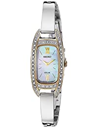 Women's Jewelry Japanese-Quartz Watch with Stainless-Steel Strap, Silver, 6.4 (Model: SUP388)