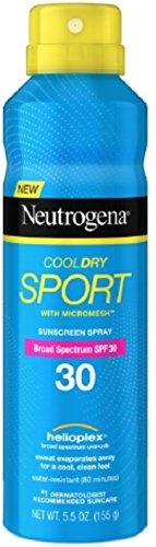 Neutrogena CoolDry Sport Sunscreen Spray, SPF 30 5.5 oz (Pack of 2)