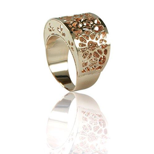 MIA ISA FRANCE – Bijoux – Femme – Bague Arabesque en argent 925 1000 rhodié rose 20006R taille 54