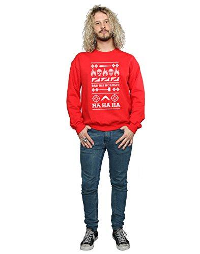 Rojo Christmas Squad Holiday Uomo Suicide Felpa XqU6Tg