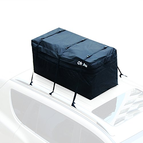 Ohuhu Expandable Hitch Tray Cargo Carrier Roof Top Bag, Rain-proof & Fire-proof, 15 Cubic Feet (A Liner For Your Truck Bed compare prices)