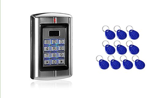 Proximity 125KHz RFID Card+Password Metal Stand-alone Access Control Unit Machine Keypad In Door Use with 10pc keyfods SecureControl