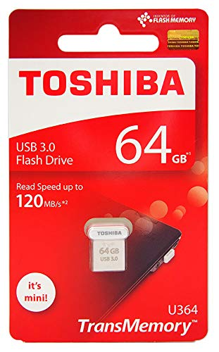 Toshiba USB3.0 Flash Drive 64GB USB 3.0 64G Flash Disk TransMemory U364 Mini USB Stick Read 120MB/s (THN-U364W0640A4)