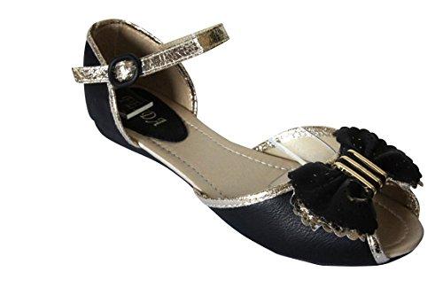 PiriModa - Sandalias de vestir para mujer Negro negro 38 negro