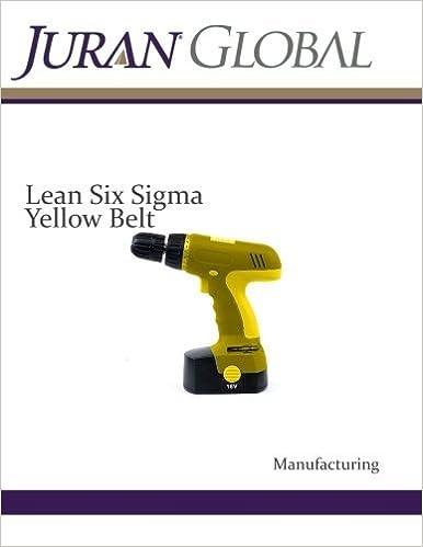Amazon com: Lean Six Sigma Yellow Belt Manufacturing