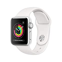 Apple Watch Series 3 (GPS, 38mm) – Silver Aluminum Case with White Sport Band best sellers [tag]