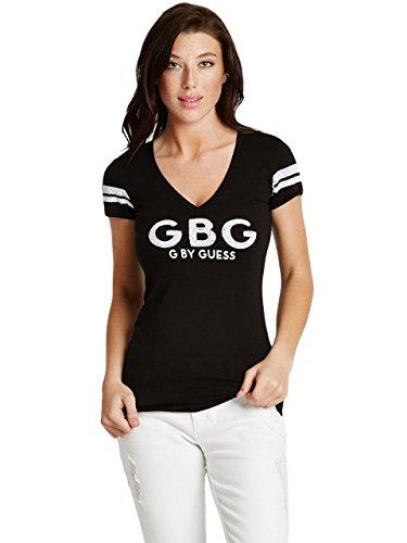 G by GUESS Women's Farrah Sequin Logo Tee