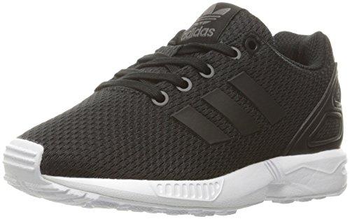 adidas Originals Boys' ZX Flux C Running Shoe, Black/White, 3 Medium US Little Kid