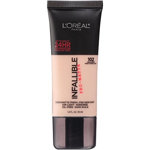 L'Oréal Paris Makeup Infallible Pro-Matte Foundation, 102 Shell Beige, 1 fl. oz.