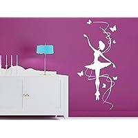 Ballerina and Butterflys Children decal Girls Room Boys Room Nursery Idea Kids Decor Wall Decal Art Vinyl Sticker tr469