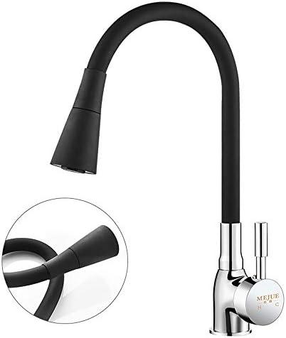 Lighfd Feine Kupfer Hauptkörperküchenarmatur Heiße und kalte Gemüse Sink Sink 360 ° Universal-Rotation Dual-Temperaturregelung Hohe Qualität Bubbler Plating Mattschwarz