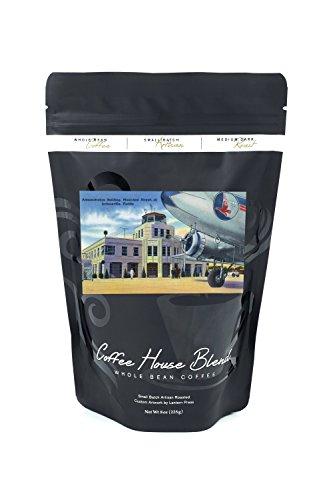 - Jacksonville, Florida - Municipal Airport Administration Building (8oz Whole Bean Small Batch Artisan Coffee - Bold & Strong Medium Dark Roast w/Artwork)