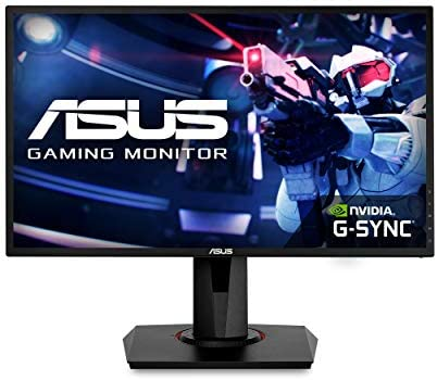 "Asus VG248QG 24"" Gaming Monitor, 1080P Full HD, 165Hz (Supports 144Hz), G-SYNC Compatible, 0.5ms, Extreme Low Motion Blur, Eye Care, DisplayPort HDMI DVI,Black"