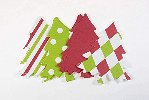 Christmas Tree Die Cuts for Card Making, Paper Party Decorations (20 Count) from Crafts & Confetti