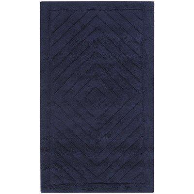 Marquis Diamond Bath Mat in Navy Blue