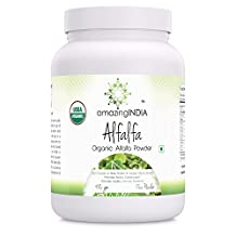 Amazing India USDA Certified Organic Alfalfa Powder 482 Grams (17 Oz)