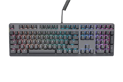 Mionix Wei Mechanical Keyboard US layout - PC and macOS - Cherry MX Red Switches - RGB backlight (Black/Gray)