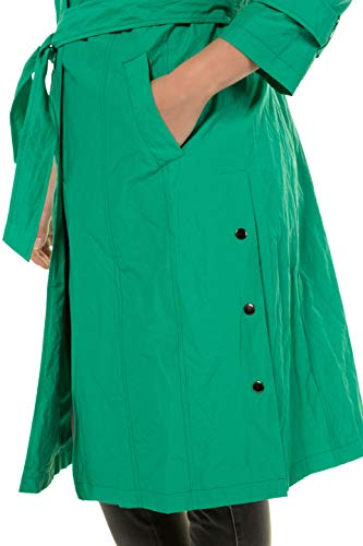 Grandes Popken coat 720450 Tailles Vert Femme Moyen Trench Ulla uFK5Tl1Jc3