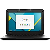 Lenovo N22 11.6-Inch Chromebook (Black, 2.16GHz N3050 CPU, 4GB RAM, 16GB SSD, Chrome OS) - Best Chromebook for School
