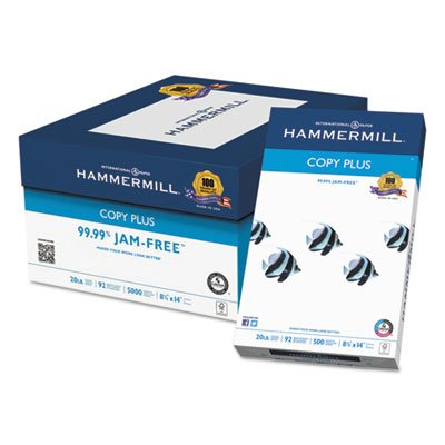 Copy Plus Copy Paper, 92 Brightness, 20lb, 8-1/2 x 14, White, 500 Sheets/Ream, Sold as 2 Ream by Hammermill (Image #2)