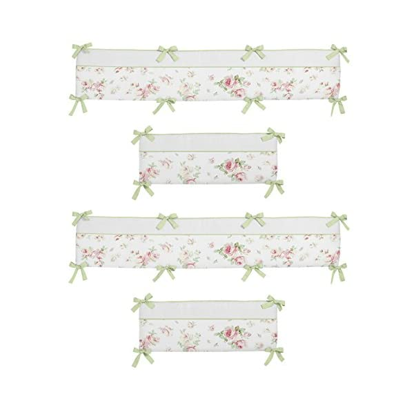 Sweet Jojo Designs Riley's Roses Collection Crib Bumper