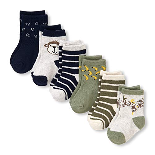 The Children's Place Baby Boys 6 Pack Sock Bundle, Multi CLR, 6-12 MONTHS ()