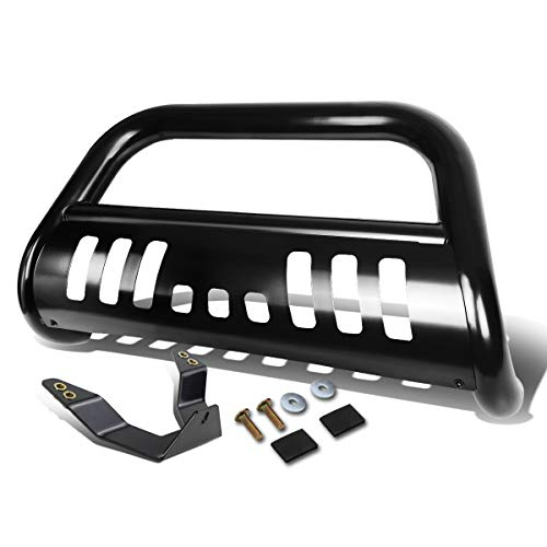For Nissan Titan A60 / Armada W60 3 inches Black Bumper Push Bull Bar + Skid Plate + Relocation -