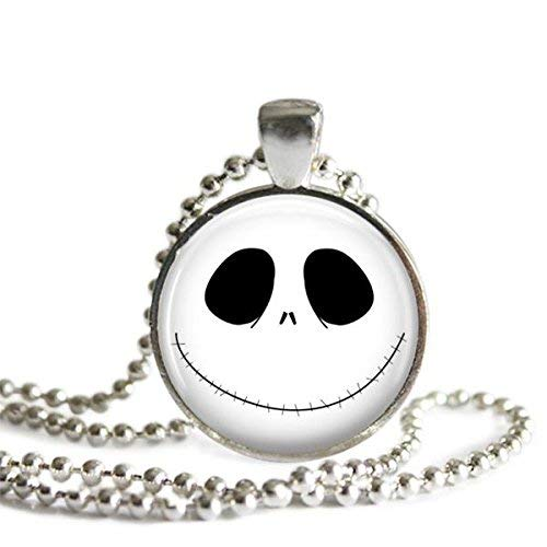 - The Nightmare Before Christmas Jack Skellington Smile 1 Inch Pendant Necklace or Keychain