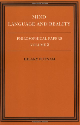 Philosophical Papers, Vol. 2: Mind, Language and Reality by Cambridge University Press