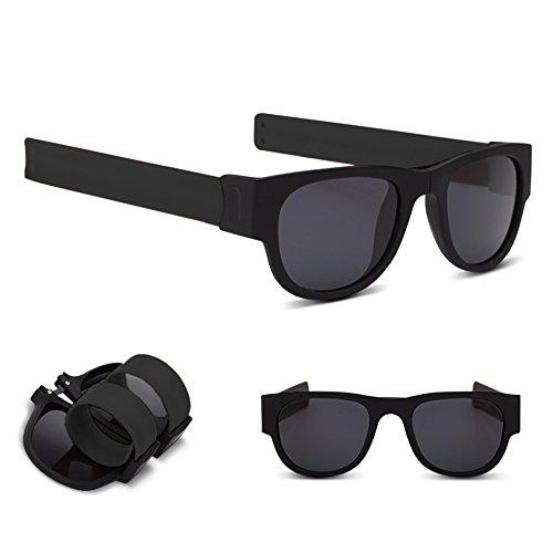 SLAP-SHADES SUNGLASSES, UV LENSES, Black Frame