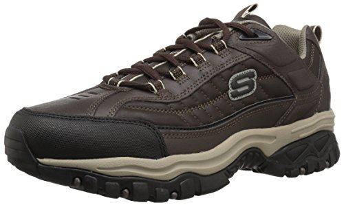 Skechers Sport Men Energy Downforce Lace-Up Sneaker,Brown Brown/Taupe
