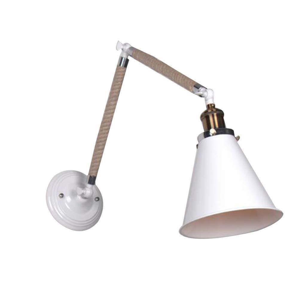MICOKY Wand Lampe Eisen Anpassung Teleskop Seil Beleuchtung Veranda Gang E27 Wandleuchte