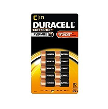 Duracell Coppertop Alkaline Batteries C - 10 pk by Duracell