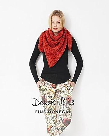 Debbie Bliss Muster. Dreieckig Spitze Schal. Fine Donegal.: Amazon ...