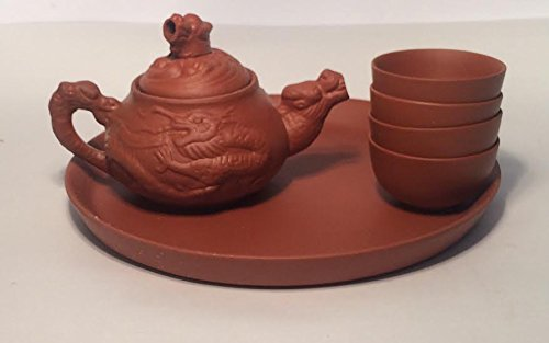 Yi Xing Clay Miniature Tea Set with Dragon Tea Pot 2837