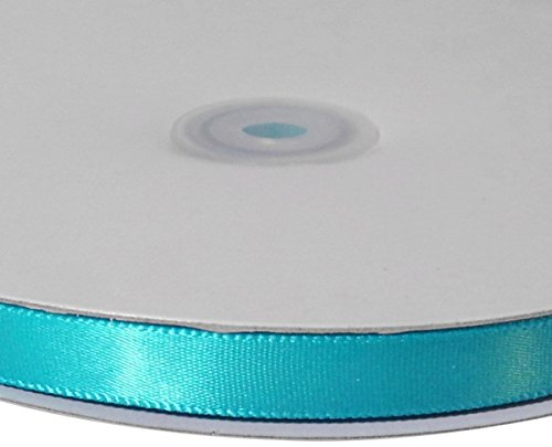 Homeford Single Face Satin Ribbon, 1/4-Inch/100-Yard, Turquoise]()