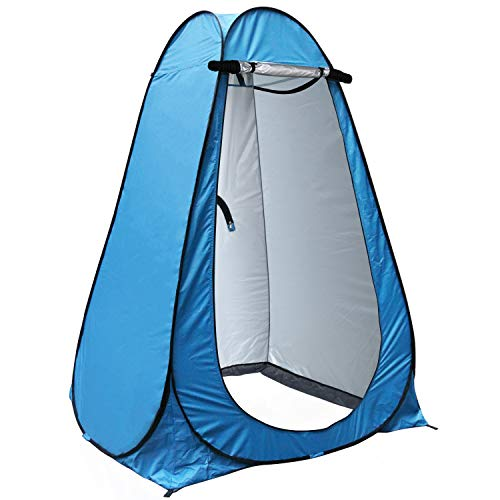 🥇 anngrowy Pop Up Privacy Tent Shower Tent Portable Outdoor Camping Bathroom Toilet Tent Changing Dressing Room Privacy Shelters Room for Hiking and Beach – UPF 40+ Waterproof with Carry Bag