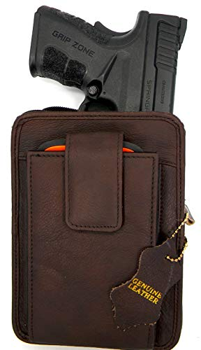 Roma Leathers Belt Pistol Concealed Carry Pack (Brown, 5.5